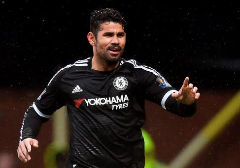 Diego Costa celebrates after scoring the third goal for Chelsea Reuters / Dylan Martinez