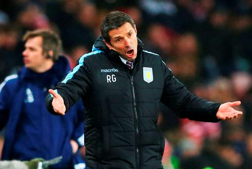 Aston Villa manager Remi Garde is under serious pressure