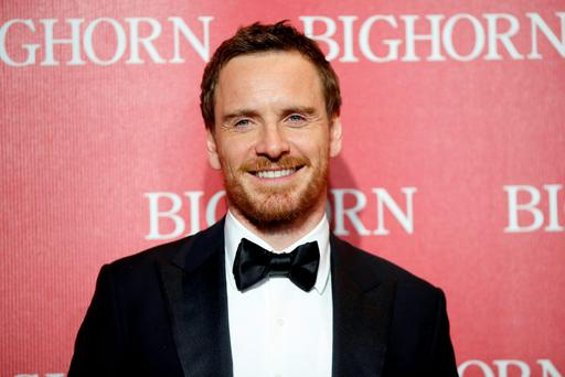 International Star Award recipient actor Michael Fassbender poses at the 27th Annual Palm Springs International Film Festival Awards Gala in Palm Springs