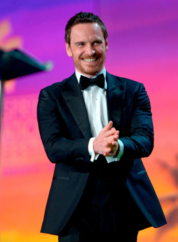 Actor Michael Fassbender accepts the International Star Award onstage at the 27th Annual Palm Springs International Film Festival Film Festival Awards Gala at Palm Springs Convention Center on January 2, 2016 in Palm Springs, California. (Photo by Charley Gallay/Getty Images for PSIFF)