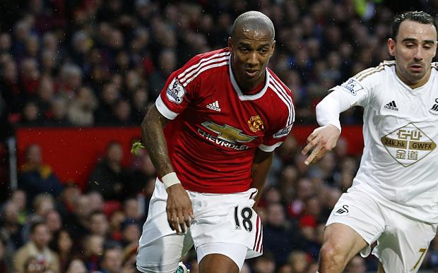 Ashley Young was one of the standout players against Swansea