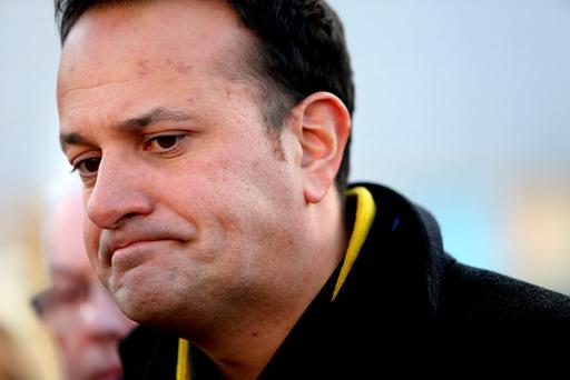 Minister for Health Leo Varadkar pictured speaking to the media at St James Hospital. Picture; GERRY MOONEY.