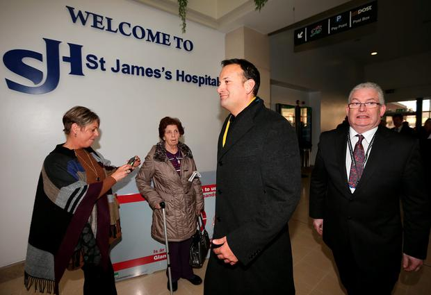 Minister for Health Leo Varadkar pictured arriving at St James Hospital. Picture; GERRY MOONEY.