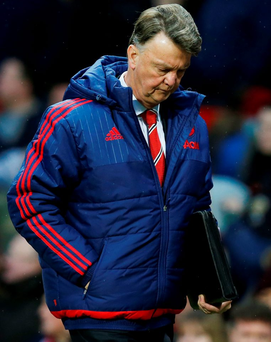 Manchester United sponsors Nike have criticised the team's style of play under manager Louis van Gaal Photo: Reuters / Andrew Yates