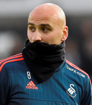 Swansea's Jonjo Shelvey has received internal criticism for his performances this season Photo: Reuters / Rebecca Naden