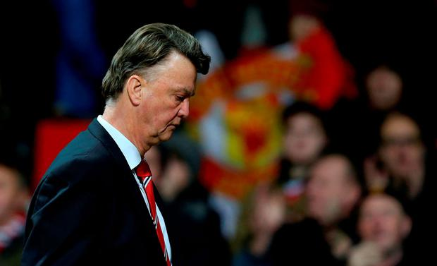 Manchester United manager Louis van Gaal. Photo: Martin Rickett/PA.
