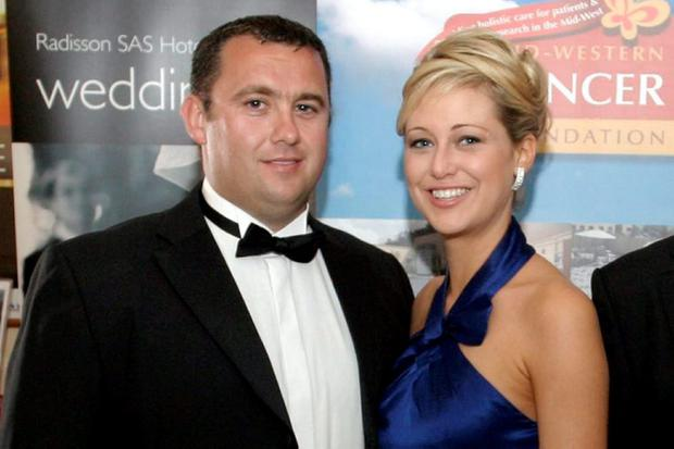 Jason and Molly at a charity dinner in 2009. Picture: Brendan Gleeson