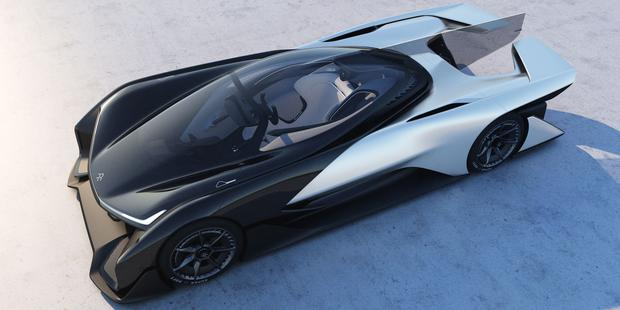 Faraday Future's electric 'Batmobile' concept car