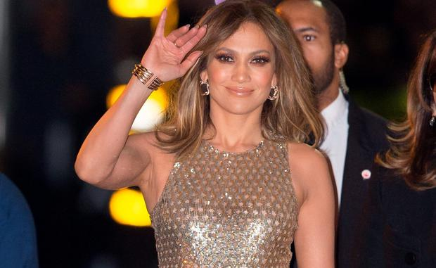 Jennifer Lopez is seen at 'Jimmy Kimmel Live' on January 04, 2016 in Los Angeles, California. (Photo by RB/Bauer-Griffin/GC Images)