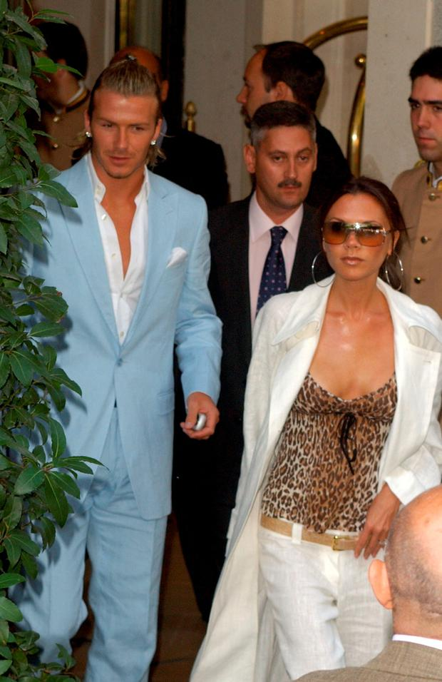 648fbe1d3a7 David Beckham and Victoria Beckham in Madrid. (Photo by Lalo  Yasky WireImage)