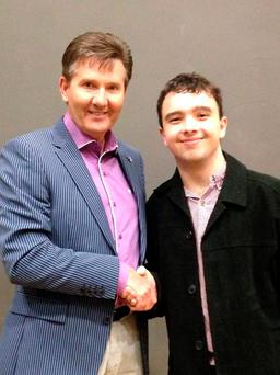 Daniel pictured with superfan David in 2014 (Photo: Facebook/David Marks)