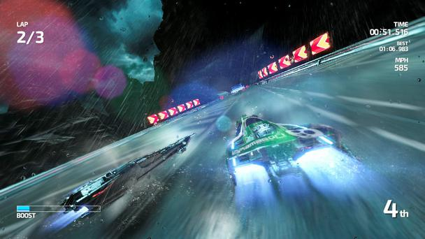 Fast Racing Neo: Aggressive opponents make for a challenging experience