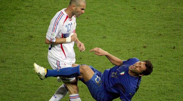 Zidane was sent off in the 2006 World Cup final between France and Italy