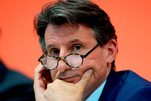 IAAF president Seb Coe. Photo: Martin Rickett/PA Wire.
