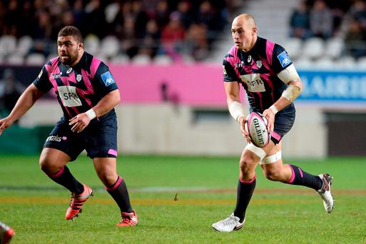 Munster will have to deal with the treat posed by Stade Francais's Sergio Parisse (right) and Paul Alo-Emile on Saturday. Photo: Aurelien Meunier/Getty Images.
