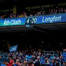 The scoreboard tells a grim tale at the end of last summer's Leinster SFC clash between Dublin and Longford in Croke Park