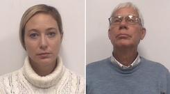 Mugshots of Molly Martens Corbett and her father Thomas