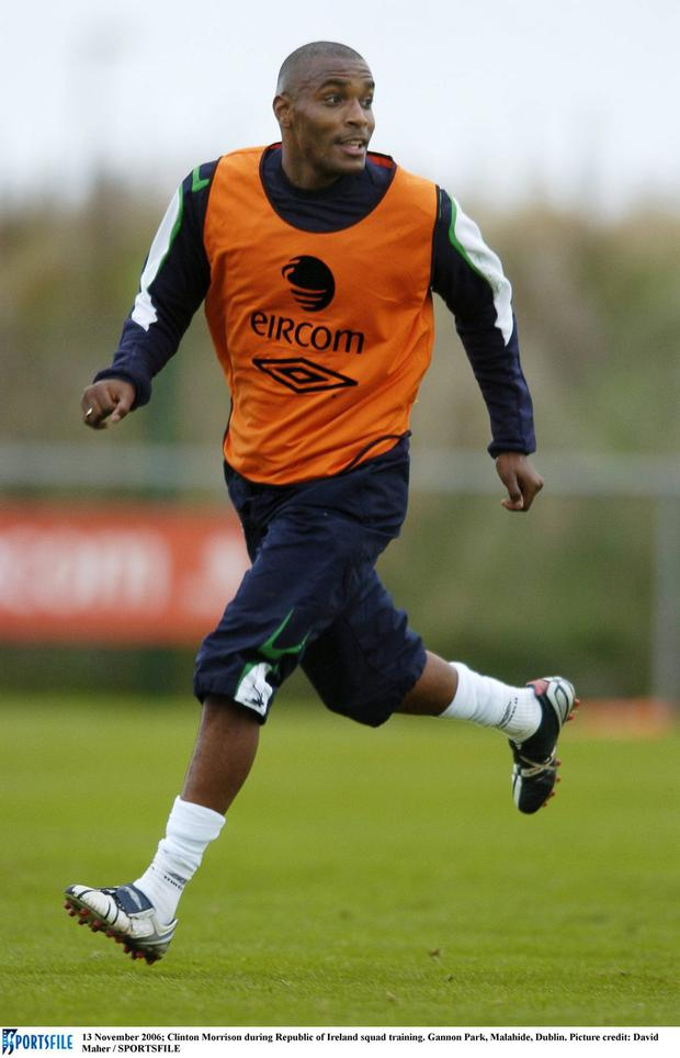 Clinton Morrison, during his Ireland days, is looking forward to Friday night's FA Cup clash with Liverpool for his current side Exeter. Photo: David Maher / Sportsfile