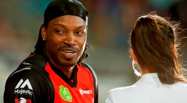 Apology: Chris Gayle was forced to defend his comments. Darrian Traynor/Getty Images
