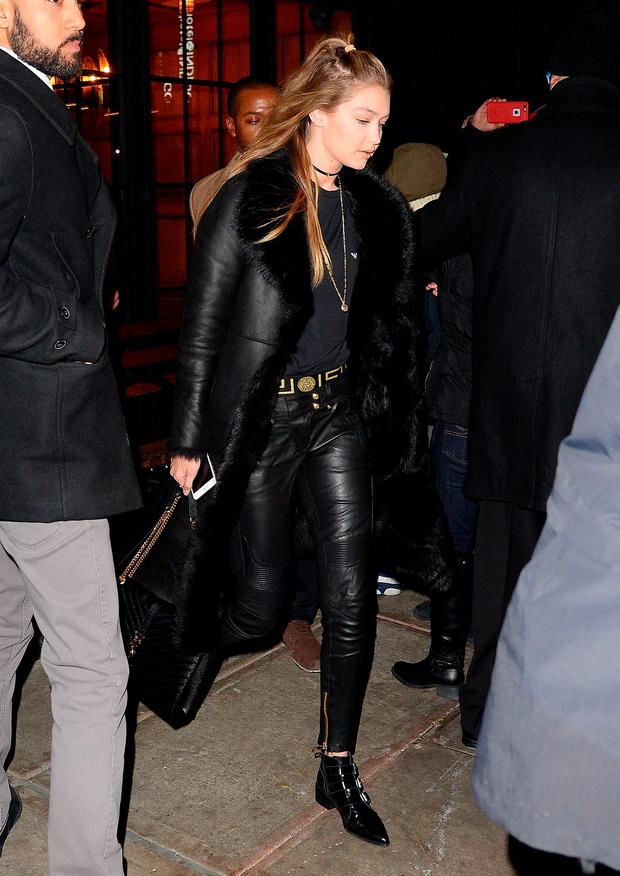 Model Gigi Hadid is seen walking in Soho on January 5, 2016 in New York City. (Photo by Raymond Hall/GC Images)