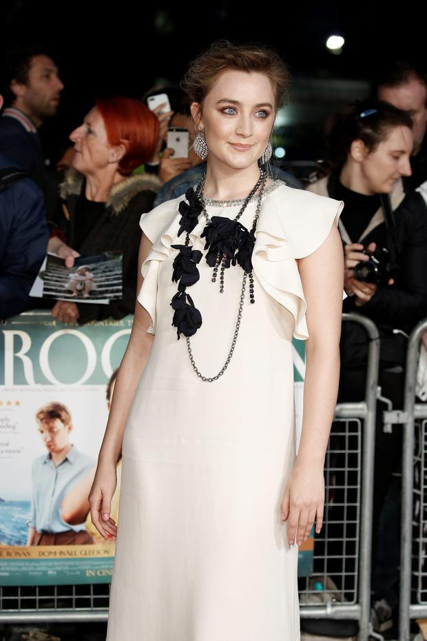 Saoirse Ronan, wearing a Lanvin gown, attends the