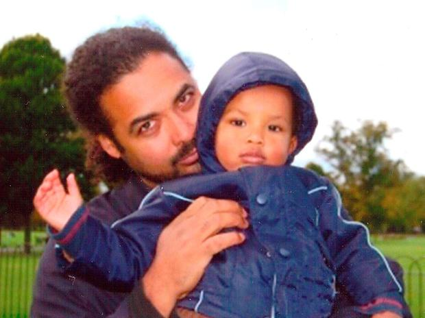 Undated handout file photo issued by Metropolitan Police of Arthur Simpson-Kent (left), 48, and Amon, four, the partner and son of Sian Blake, 43, as murder squad detectives continue to search for the boyfriend of the ex-EastEnders actress after three bodies were found by police looking for the performer and her two children
