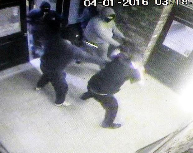 CCTV images of the attack. Photo: Courtesy of The Star