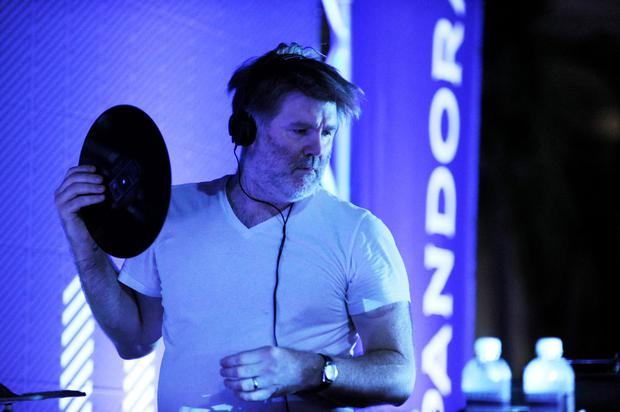 HALLANDALE, FL - AUGUST 20: DJ James Murphy (DFA/LCD Soundsystem) performs at Lexus Pop-Up Concert Series Powered By Pandora at Gulfstream Park on August 20, 2015 in Hallandale, Florida. (Photo by Sergi Alexander/Getty Images for Pandora Media Inc.)