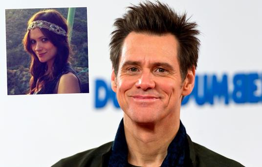 Jim Carrey and (inset) is Cathriona White