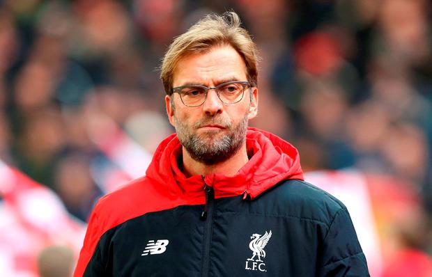 Liverpool manager Jurgen Klopp has been slammed for the Merseyside club's mounting injury crisis. Photo: Martin Rickett/PA Wire.