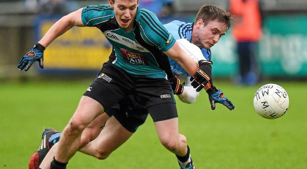 Maynooth University's Ronan Kennedy scored 1-3 in an excellent performance against wicklow. Photo: Pat Murphy / Sportsfile