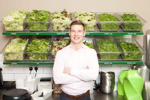 Brian Lee at his Chopped restaurant in Baggot Street, Dublin. Brian plans to open two more stores in Dublin shopping centres and has also has plans for six more outlets in 2016