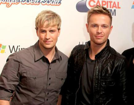 LONDON, ENGLAND - DECEMBER 05: 'Westlife' (L-R) Kian Egan, Nicky Byrne, Shane Filan and Mark Feehily attend the Capital FM Jingle Bell Ball - Day 1 at 02 Arena on December 5, 2009 in London, England. (Photo by Ian Gavan/Getty Images)