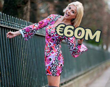 Jess Redden is feeling groovy as she makes her modelling debut to celebrate Friday's EuroMillions jackpot which is a far out €60 million. Pic. Robbie Reynolds