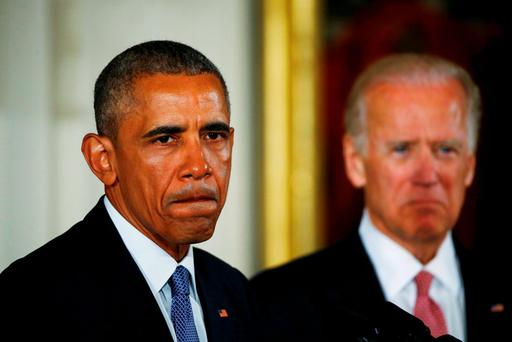 US President Barack Obama and Vice President Joe Biden (R) have been named in the law suit filed by Alabama Credit: Carlos Barria (REUTERS)
