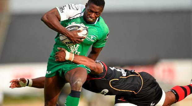 Connacht's Niyi Adeolokun in action. Photo: Matt Browne / Sportsfile