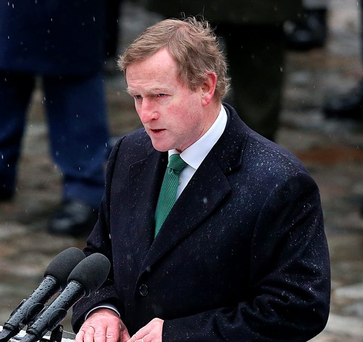 Standing firm: Enda Kenny. Photo: Steve Humphreys
