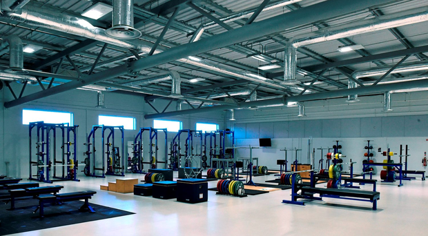 A general view of the gymnasium at the Institute of Sport High Performance Training Centre in Abbotstown (Photo: Sportsfile)