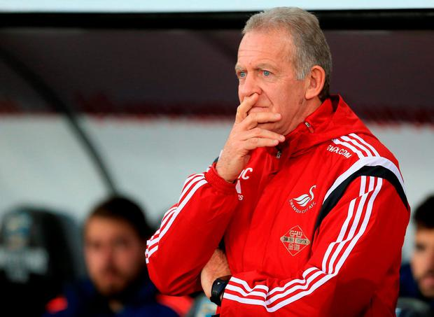 Swansea City Caretaker manager Alan Curtis Photo:PA Wire.