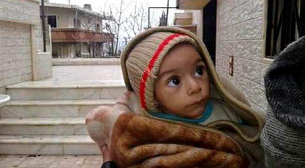 This image of a young child has been released by activists in the Syrian town of Madaya
