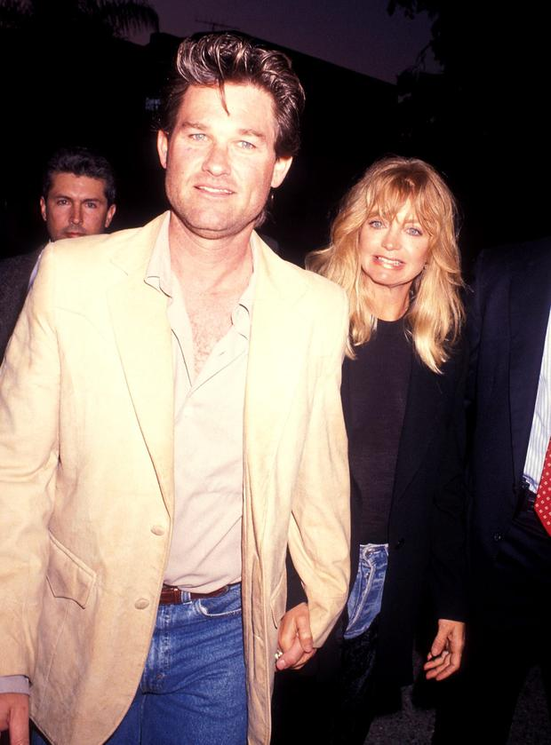 Actor Kurt Russell and actress Goldie Hawn attend the