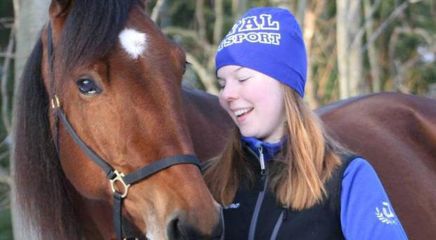 Jockey Helena Stahl with her horse Iffy. Source: Facebook