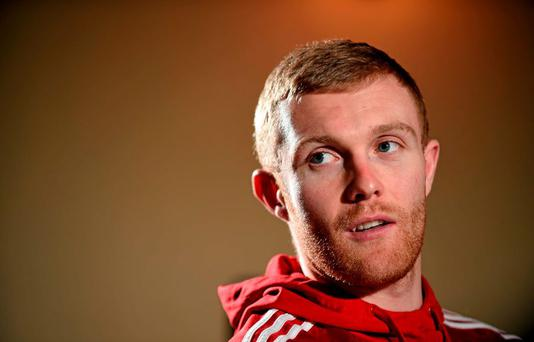 Munster's Keith Earls speaking during a press conference. Castletroy Park Hotel, Limerick. Picture credit: Diarmuid Greene / SPORTSFILE