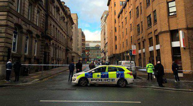 Parts of Liverpool city centre were closed after a bomb threat Andy Clarke/Twitter