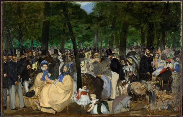 Undated handout photo issued by The National Gallery of Edouard Manet's 'Music in the Tuileries Gardens' as pressure is mounting on Britain to return a priceless trove of impressionist paintings to Ireland as the country swings into centenary celebrations of its Easter Rising