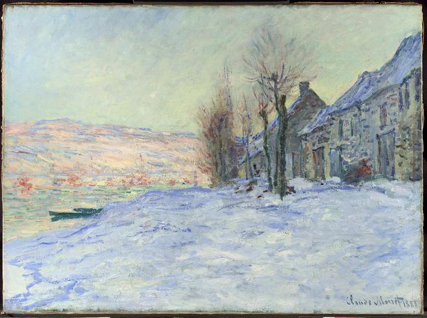 Undated handout photo issued by The National Gallery of Claude Monet's 'Lavacourt under Snow' as pressure is mounting on Britain to return a priceless trove of impressionist paintings to Ireland as the country swings into centenary celebrations of its Easter Rising