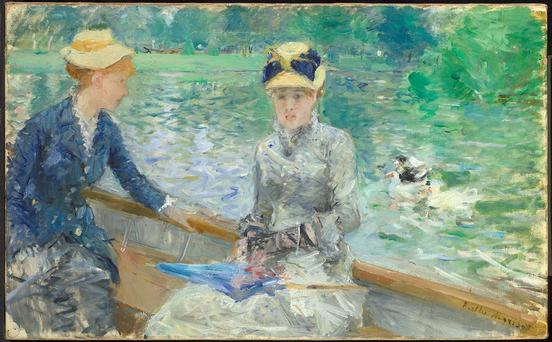 Undated handout photo issued by The National Gallery of Berthe Morisot's 'Summer's Day' as pressure is mounting on Britain to return a priceless trove of impressionist paintings to Ireland as the country swings into centenary celebrations of its Easter Rising