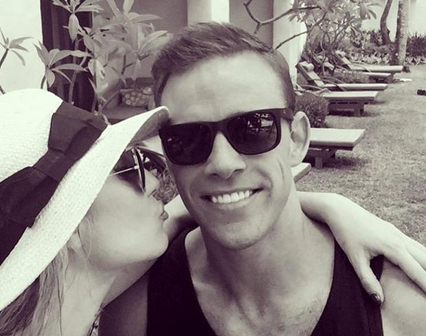 Rosanna Davison and husband Wesley Quirke on holidays in Mauritius. Picture: Instagram