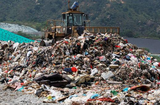 The Tuen Mun landfill is one of the biggest in Hong Kong