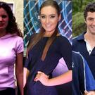 (L to R) Amy Huberman, Roz Purcell and Rob Kearney